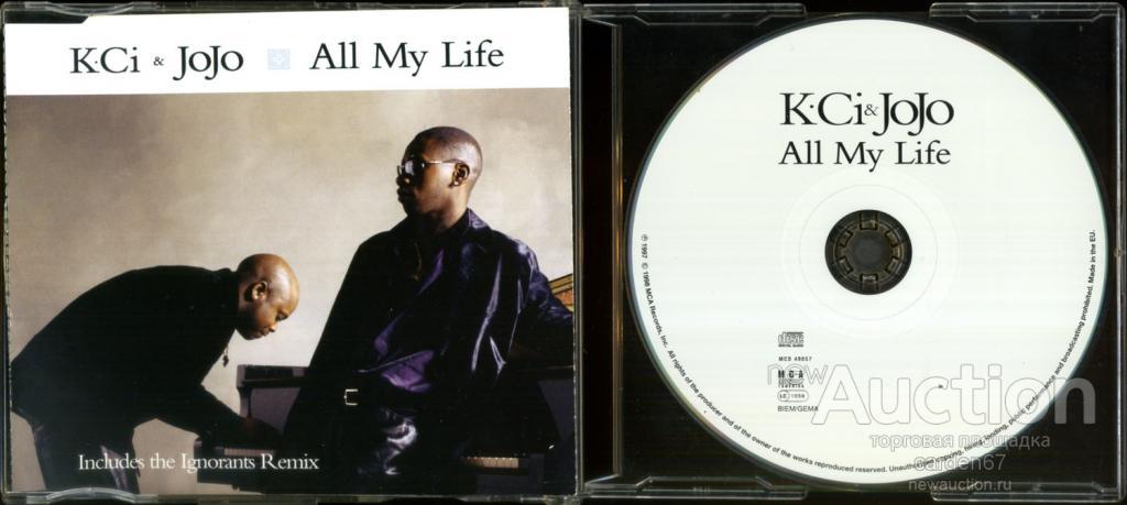 K-CI & JOJO =ALL MY LIFE= 1998 GERMANY MAXI-CD