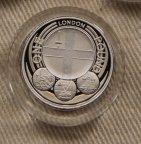 1 фунт Великобритания 2010 Лондон серебро