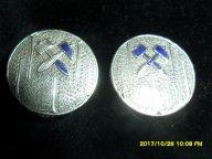 Запонки 84 проба серебро царские горные инженеры