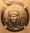 Платиновая монета 100 $