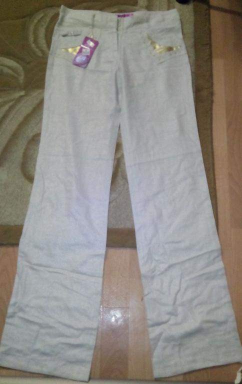 Костюм летний пиджак брюки хлопок лен