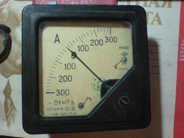 Прибор амперметр М340 времен СССР 1957 г
