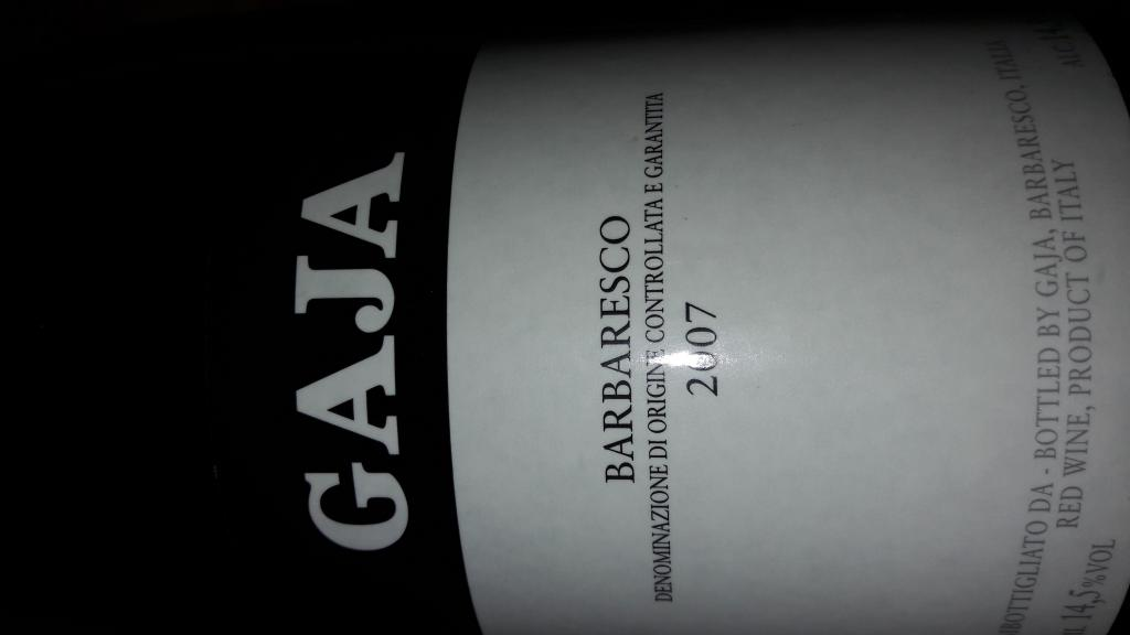 Вино Италия GAJA BARBARESCO 2007 г