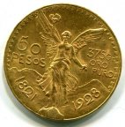 Мексика 50 Песо 1928. Есть другие годы. qwz. Золото