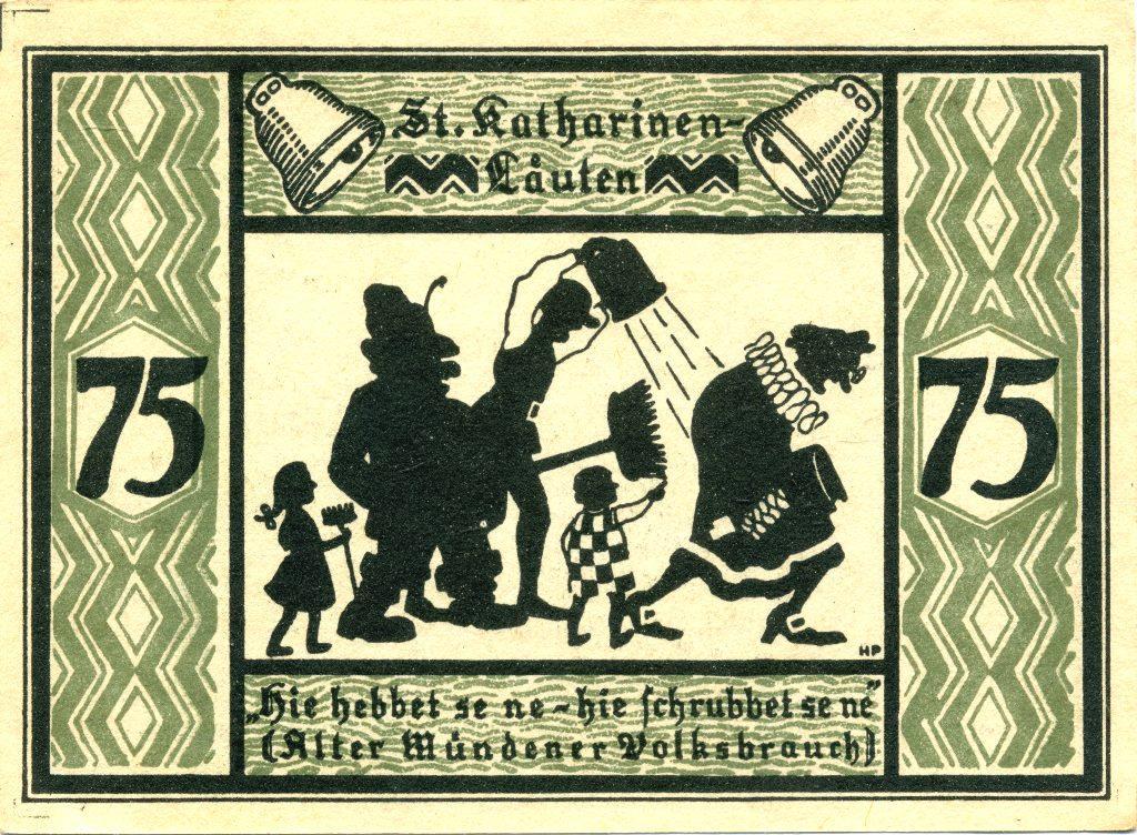 Германия 75 пфеннигов 1922г. Ханн.Мюнден (Нижняя Саксония)