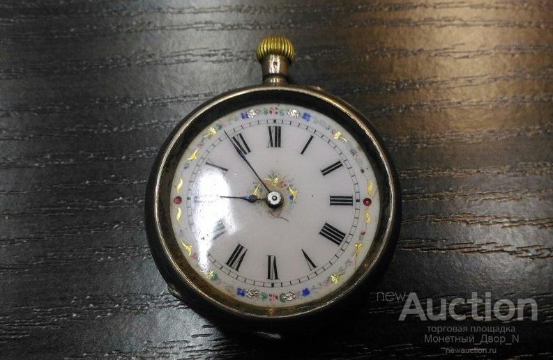 Швейцарские корсетные серебряные часы, богато декорированные втор. пол. 19 века, с 1 рубля RRR!!!
