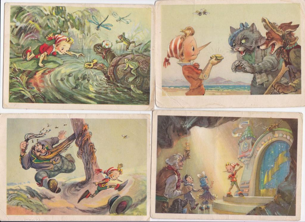 бердск набор открыток золотой ключик российский приморский