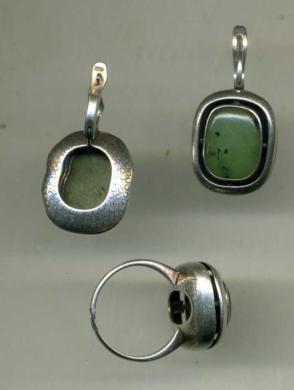 Комплект Серьги Кольцо  Серебро 925