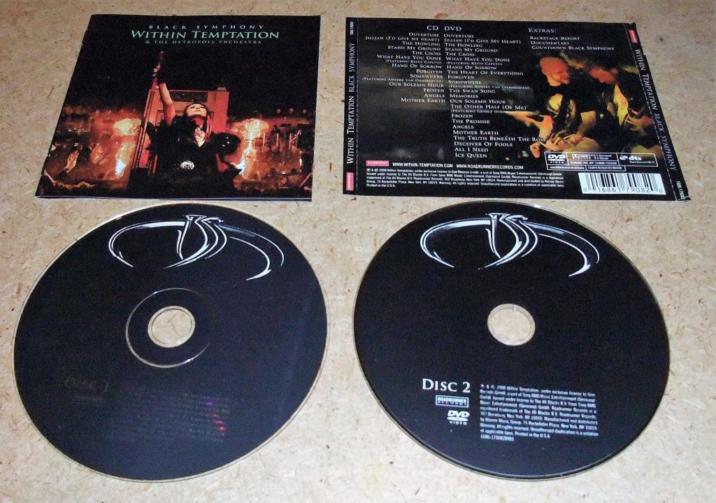 CD+DVD WITHIN TEMPTATION-BLACK SYMPHONY-2008(RU) 8-CTP.BOOKLET