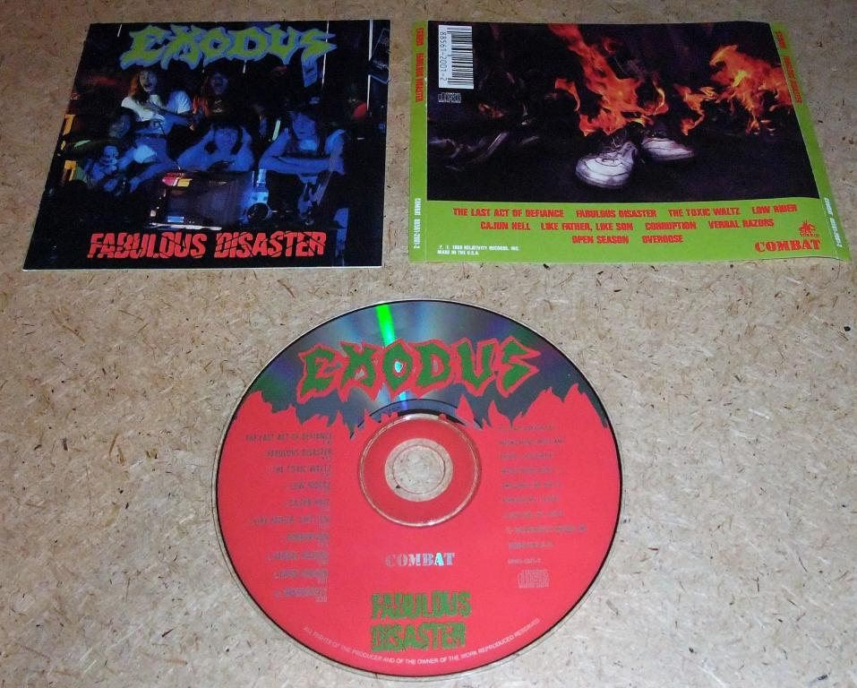 CD EXODUS-FABULOUS DISASTER-89(RU) 6-CТР.БУКЛЕТ (THRASH)
