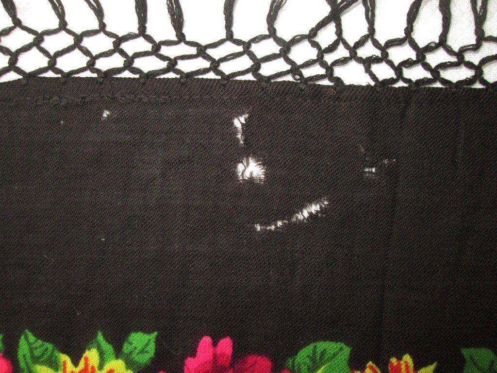 Платок шаль Павловопосадская 148х150 см шерсть винтаж СССР