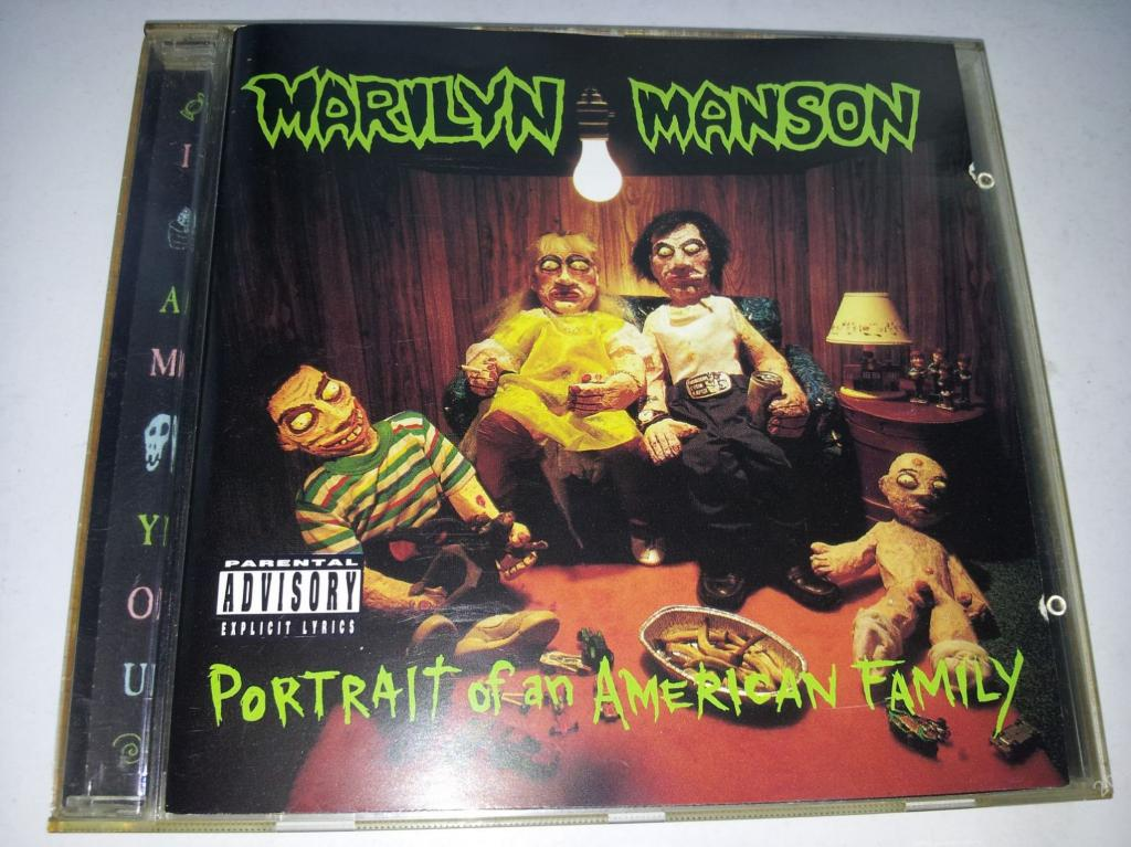 MARILYN MANSON Portrait Of An American Family 1994 Germany (старое издание) фирменный диск (лот 1)