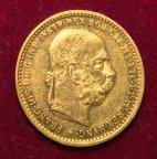 Золотая монета 10 крон 1905г.