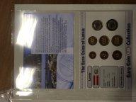 Набор монет UNC евро 2015 года Латвия