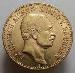 20 марок Германия - Саксония 1905 года. Золото 7,97 гр. Сохранность отличная.
