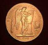 Золотая монета 100 Франков