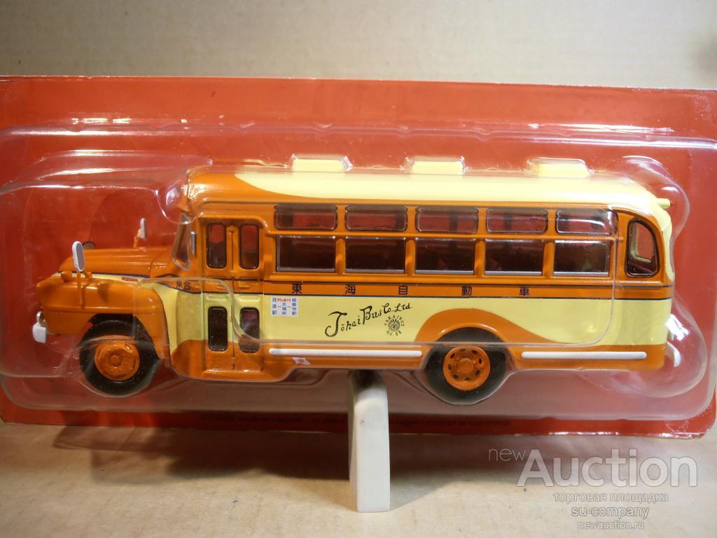 Автобус isuzu bxd-30 japan 1966 orange / yellow bus 1:43 ixo металл