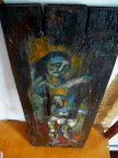 живопись картина на деревянных досках стилизация под икону (2) подписная автор Евгения ПРИЙМАК