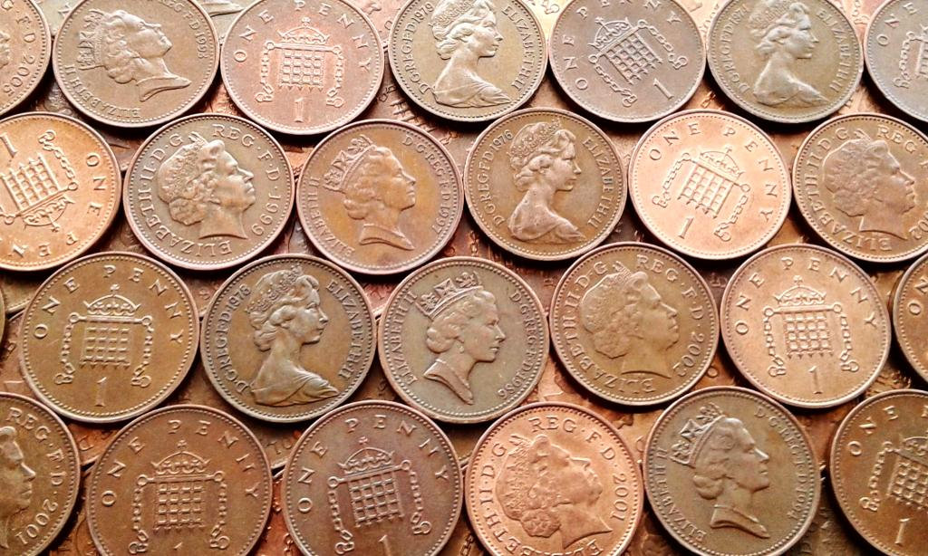 21 монета Великобритании - Одним лотом. С рубля.
