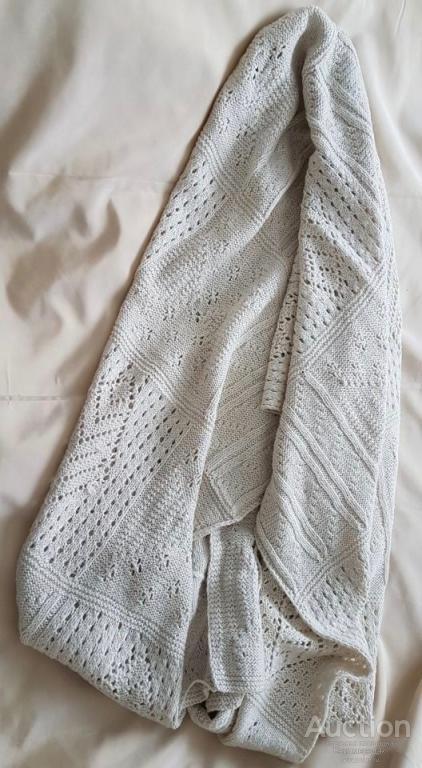 Накидка шарф палантин шерстяной вязаный
