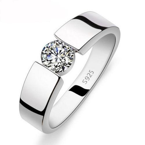 NEW!!! белый Сапфир в серебре Перстень 19.5   размер