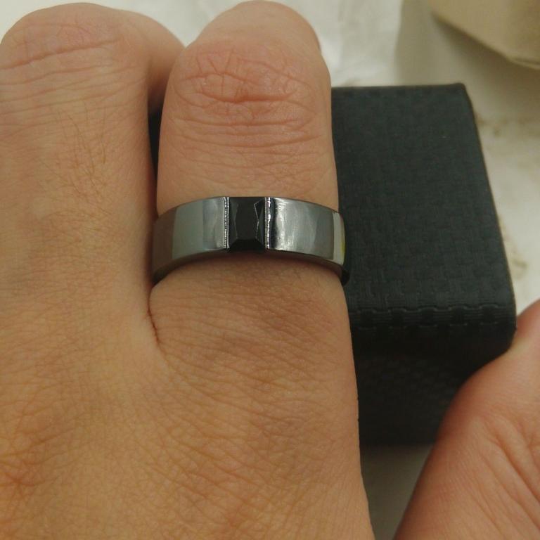 NEW!!! Сапфир в черном золоте Перстень 25   размер