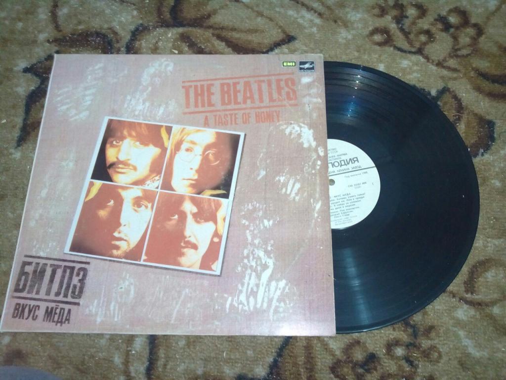 Виниловая пластинка The Beatles: a taste of honey. 1988.