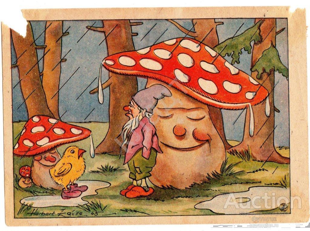 картинка гнома с грибами голы для