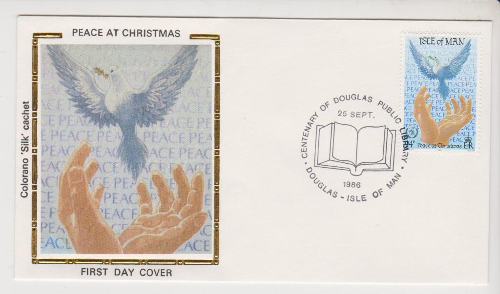 о-в Мэн 1986 Рождество птица
