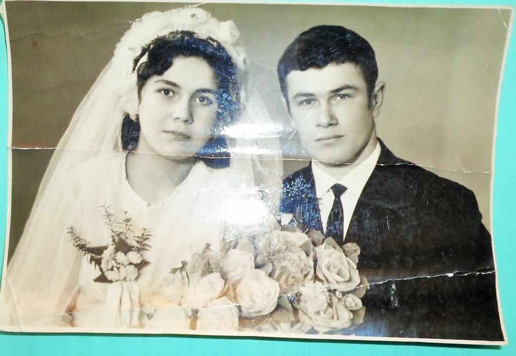 Молодожены,старое фото,СССР,1962 г.