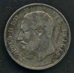 №40 .Бельгия, 5 франков  1874 год .