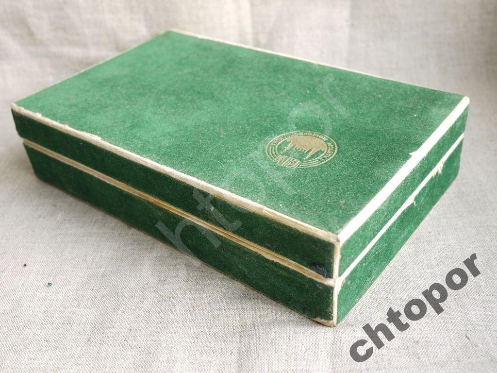 Ложки чайные 6 персон золочение, эмаль в коробке