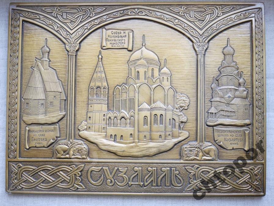 Суздаль Собор, церковь, колокольня Панно гипс