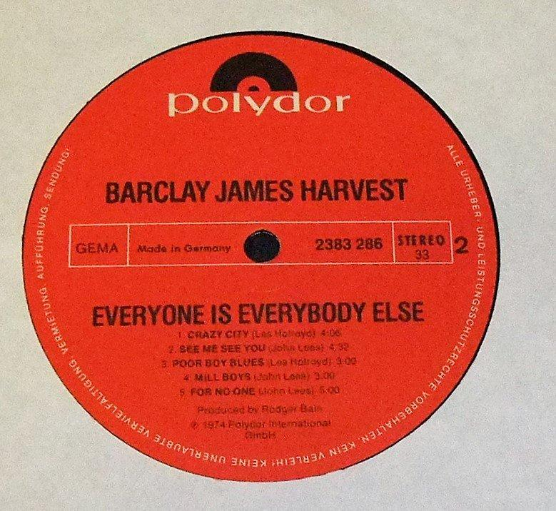 BARCLAY JAMES HARVEST-EVEYEVONE IS EVERYBODY ELSE-74(DE/POLYDOR)LP NM/NM