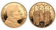 Ватикан. Бенедикт XVI. 50 евро 2006 года. Proof. Золото. 0,4418 oz. 0,917. 15,0 г. Редкие!