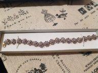 Винтажный серебряный браслет с позолотой и танзанитами