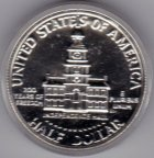 "1/2 Доллара 1976 г. PROOF ""Independence Hall"" серебро в капсуле с рубля"