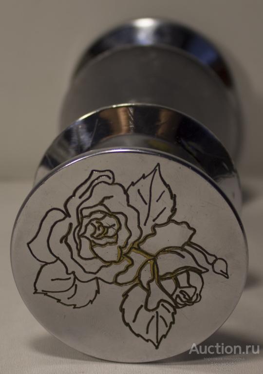 Ручки на дверь латунь никелирование цветок