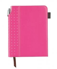 Cross Записная книжка Cross Journal Signature A5, 250 страниц в линейку, ручка 3/4. Цвет - розовый