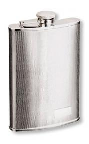S.quire Фляга S.Quire 0,27 л, сталь, серебристый цвет с рисунком