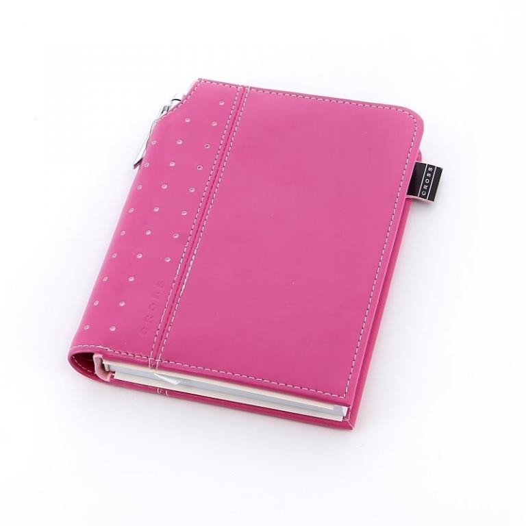 Cross Записная книжка Cross Journal Signature A6, 250 страниц в линейку. ручка 3/4. Цвет -  розовый
