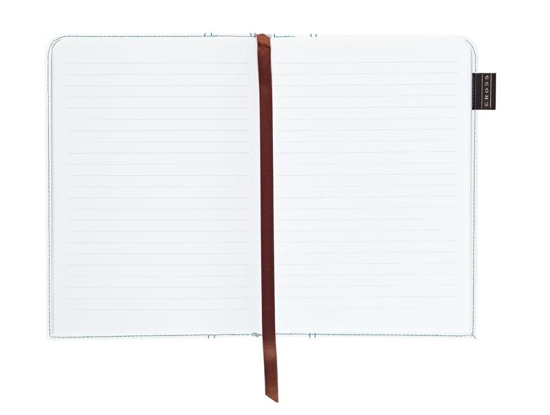 Cross Записная книжка Cross Journal Signature A5, 250 страниц в линейку, ручка 3/4. Цвет - белый