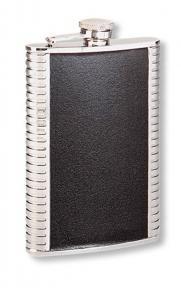 S.quire Фляга S.Quire 0,27 л, сталь+натуральная кожа, вставка черная