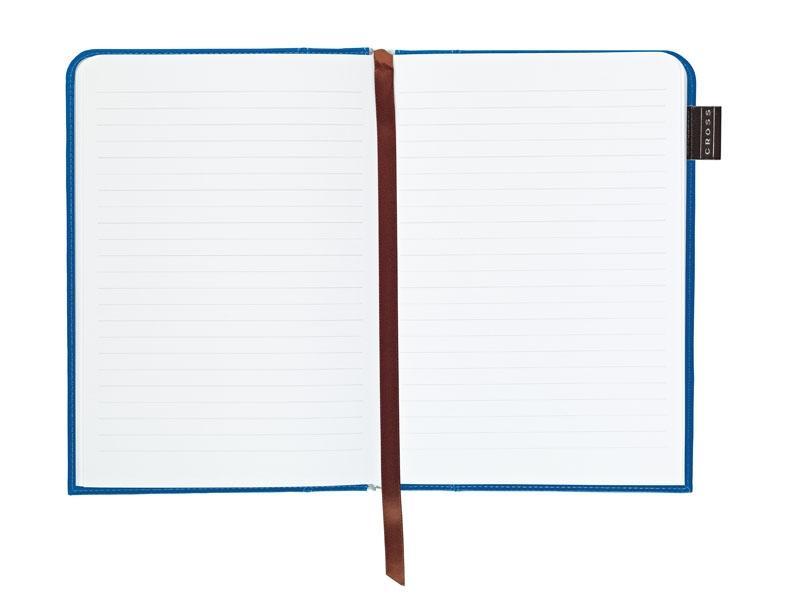 Cross Записная книжка Cross Journal Signature A5, 250 страниц в линейку, ручка 3/4. Цвет - синий
