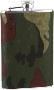 S.quire Фляга S.Quire 0,18 л, сталь+ткань, вставка камуфляж