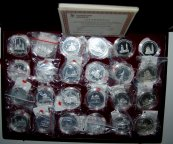 Уникальный набор медалей_____ «Золотое кольцо России»!!!__________ 24 штуки!!!!!!!_Серебро 999 пробы