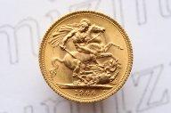 1 соверен (sovereign) 1966 года. Елизавета II. Англия