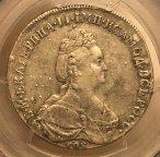 ПОЛТИНА 1796 СПБ-IC NGC AU50 РЕДКАЯ КАТАЛОГ 4000$ !