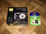 Цифровой фотоаппарат Nikon Coolpix A100 Black, новый, на гарантии