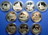 3 рубля 1995 год. Кенигсберг, Капитуляция Германии, Берлин , Прага  и тд. 50 лет ВОВ. все 10 штук